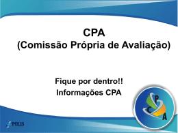CPA (Comissão Própria de Avaliação)
