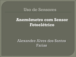 Anemômetro com sensor foto elétrico