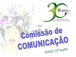 Slide 1 - Conselho Regional de Serviço Social 12ª Região SC