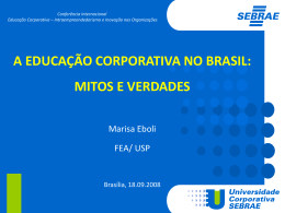 a educação corporativa no brasil