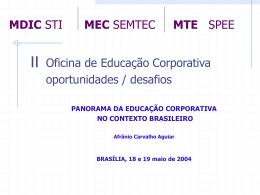 Panorama da Educação Corporativa no Contexto Brasileiro / Afrânio