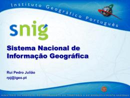 SNIG - sistema nacional de informação geográfica