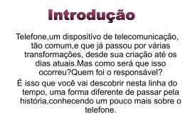 Linha do tempo do telefone