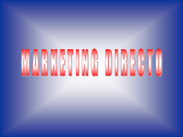 5. o marketing directo