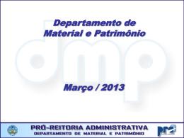 Novo Pedido / Termo de Referência *Página da PRA > DMP