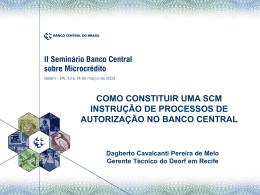 1. Introdução - Banco Central do Brasil