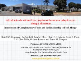 Alergia Alimentar - Paulo Roberto Margotto