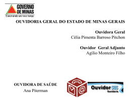 Ouvidoria de Saúde/ OGE - Cosems-MG