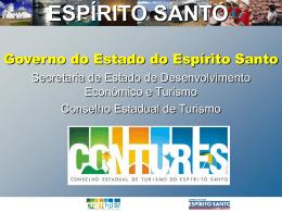 Slide 1 - Secretaria de Turismo do Espírito Santo