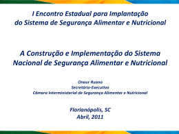 Conselho Nacional de Segurança Alimentar e Nutricional