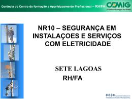 NR-10 SEGURANÇA EM INSTALAÇÕES E