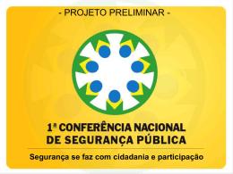 Conferência Nacional de Segurança Pública com