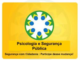 Conferência Nacional de Segurança Pública com Cidadania