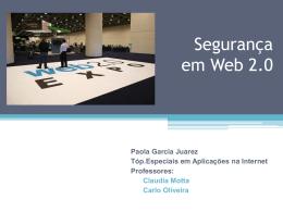 Segurança em Web 2.0