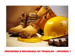 Ergonomia e Segurança do Trabalho