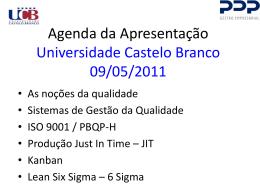o que é seis sigma - Universidade Castelo Branco