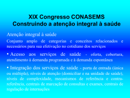 XIX Congresso CONASEMS Construindo a atenção - Saúde-Rio