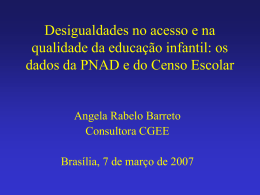 os dados da PNAD e do Censo