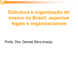 Estrutura e organização do ensino no Brasil, após a LDB/1996