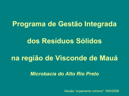 Programa de Gestão Integrada dos Resíduos