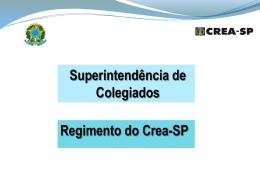 III - Grupo de Trabalho - Crea-SP