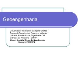 Geoengenharia - Universidade Federal de Campina Grande