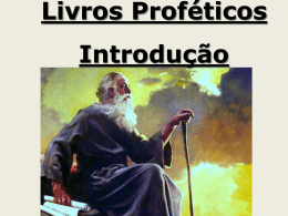 Livros Proféticos - Pr. Wilian Gomes