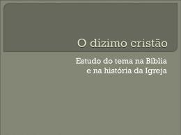 o-dizimo-cristao - Paróquia Menina de Jesus
