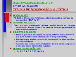 IGREJA EVANGÉLICA SOS JESUS - EB LIÇÃO 28