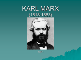 KARL MARX (1818