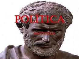A POLÍTICA(Aristóteles) AS FORMAS DE GOVERNO (LIVRO III)