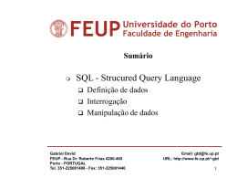 A linguagem de dados SQL