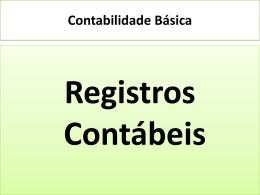Registros Contábeis - Universidade Castelo Branco