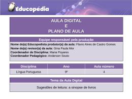 Planos e atividades de L. Portuguesa do 9° ano