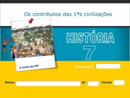 Os contributos das 1ªs civilizações