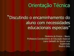 educação especial - Diretoria de Ensino