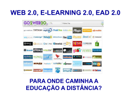 WEB 2.0, E-LEARNING 2.0, EAD 2.0
