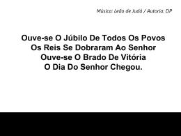 OUVE-SE O JÚBILO DE TODOS OS1