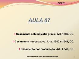Aula 07 - Professora Mestra Clarissa Bottega