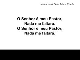 O Senhor é meu pastor7