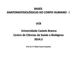 Anatomia e Fisiologia Humana.
