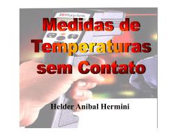 Medidas de Temperaturas sem Contato