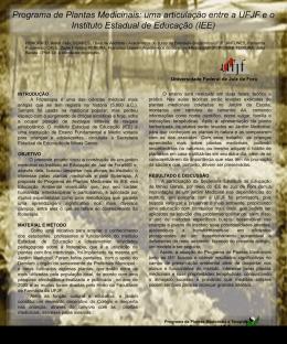 uma articulação entre a UFJF e o Instituto Estadual de Educação (IEE)