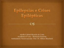 Seminário apresentado pelo acadêmico de medicina Adolfo Gabriel