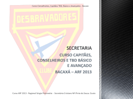 curso capitães, conselheiros e tbd básico e avançado bacaxá