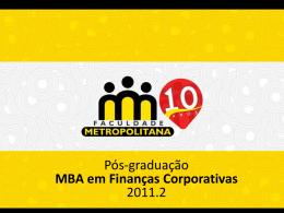 MBA em Finanças Coorporativas