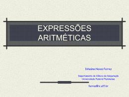Expressões aritméticas - Instituto de Computação