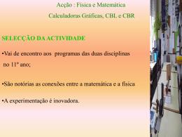 Projecto Física + Matemática