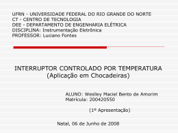 Interruptor Controlado por Temperatura - DEE