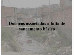 Doenças associadas a falta de saneamento básico